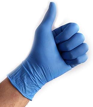 ACECITY 100 piezas de guantes médicos desechables de nitrilo azul, guantes de látex de caucho de nitrilo gruesos quirúrgicos antideslizantes para la limpieza de la cocina (XS)