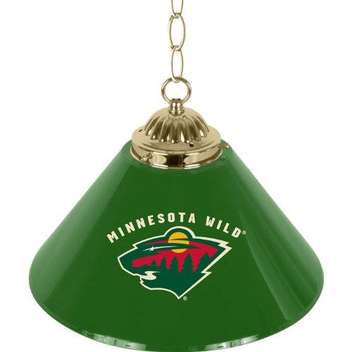 NHL Minnesota Wild Single Shade Gameroom Lamp, - Lamp Nhl Wild Minnesota