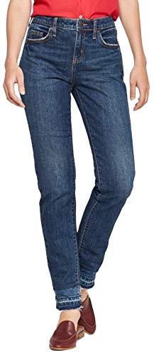 Universal Threads Women's Mid-Rise Boyfriend Jeans (Dark Wash Blue, 8)