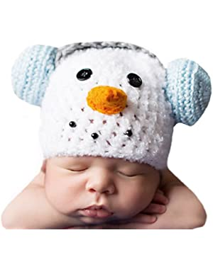 Melondipity Baby Boy Frosty with Earmuffs Hat - Premium Winter Beanie