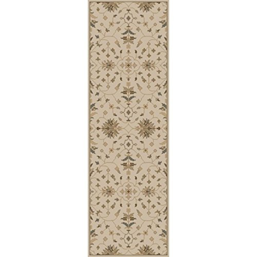 3' x 12' French Elegance Soft Brown, Beige and Light Gray Hand-Tufted Wool Area Throw Rug Runner by Diva At Home