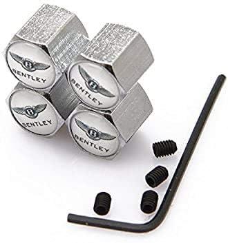 4 Piezas Tapas para V/áLvulas De Neum/áTicos para Bentley,Neum/áTico De Coche Tapas para V/áLvulas con Logotipo De Aluminio Antirrobo Prevenci/óN De Fugas De Aire Accesorios De Decoraci/óN del Coche