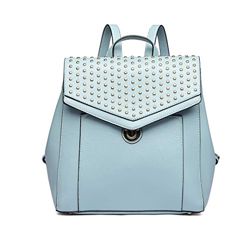 Rivet Leather School Blue Design Lulu Soft for Brand Girls Fashion Casual Backpack Pu Backpack Daypack Zipper Miss HX7YqwH