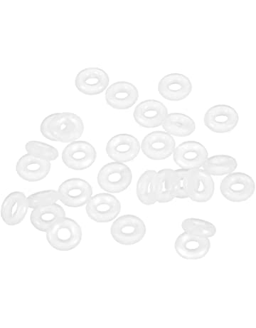 1//8 Width 5-1//2 OD 70A Durometer 5-1//4 ID 252 Silicone O-Ring Pack of 5 Red