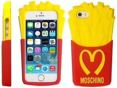 McDonald 3D Yummy Patatine Fritte Custodia Morbida in Silicone per iPhone 5/5S 5 C