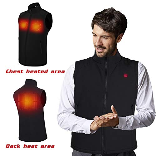 Electric Heated Jackets for Men | Heated Vest/Jacket with 3.7V Battery Pack | Keeps You Warm for Longer | Adjustable Temperature | Portable & Washable | for Indoor & Outdoor Use by Sunbond (Image #1)