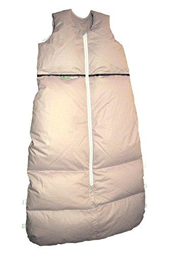 ARO Daunenschlafsack 110cm (reduzierbar bis auf 90cm), Farbe: Sand, made in Germany, Mittelreißverschluss, 2-fach Längenverstellbar mit Reißverschluss-Schützer, Öko-Tex 100 zertifiziert
