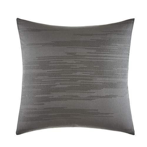 Vera Wang Burnished Quartz Throw Pillow 18x18, Dark Grey [並行輸入品] B07R96XCRC