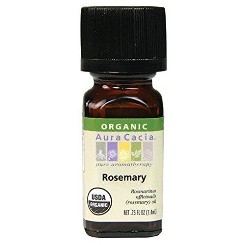 Aura Cacia Organic Essential Oil, Rosemary, 0.25 Fluid Ounce