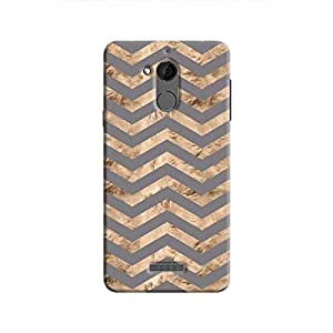 Cover It Up - Brown Grey Tri Stripes Coolpad Note 5 Hard case