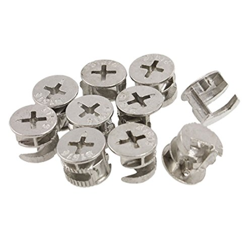 Uxcell Furniture Connecting Cam Fittings Pack, 14.6mm, 10 Piece by uxcell