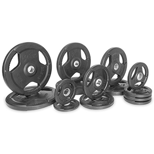 XMark-Fitness-Premium-Quality-Rubber-Coated-Tri-grip-Olympic-Plate-Weights-Sold-in-Sets