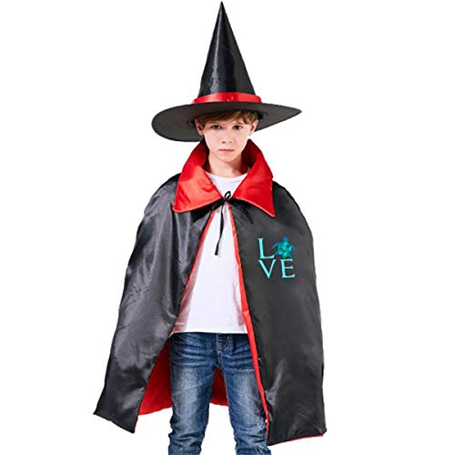 Wodehous Adonis Love Sea Turtles Mint Child's Halloween Costumes Cloak And Wizard Hat For Holiday Cosplay Party -