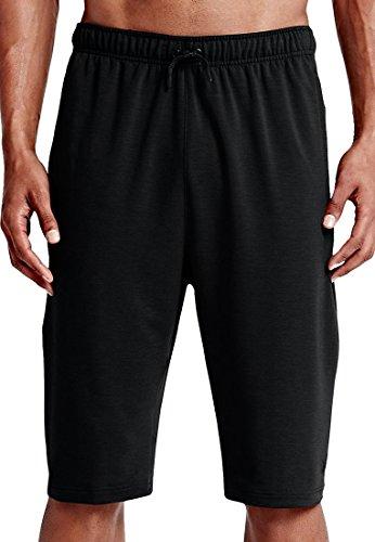 Nike Elite Woven Shorts (Nike Men's Dri-FIT Fleece Training Short Black/Black Shorts XL X 13)