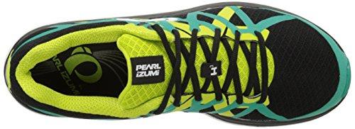 Pearl Izumi Mens Em Road H3 V2 Scarpa Da Corsa Nero / Verde Dinastia