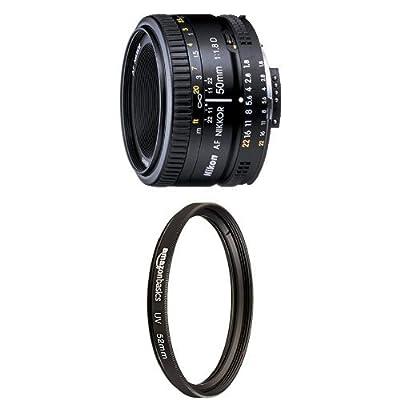Nikon AF FX NIKKOR 50mm f/1.8D Lens with Auto Focus for Nikon DSLR Cameras from Nikon