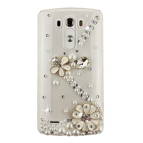 STENES Sparkly S Link Flowers Case For Huawei Mate 10 - White ()