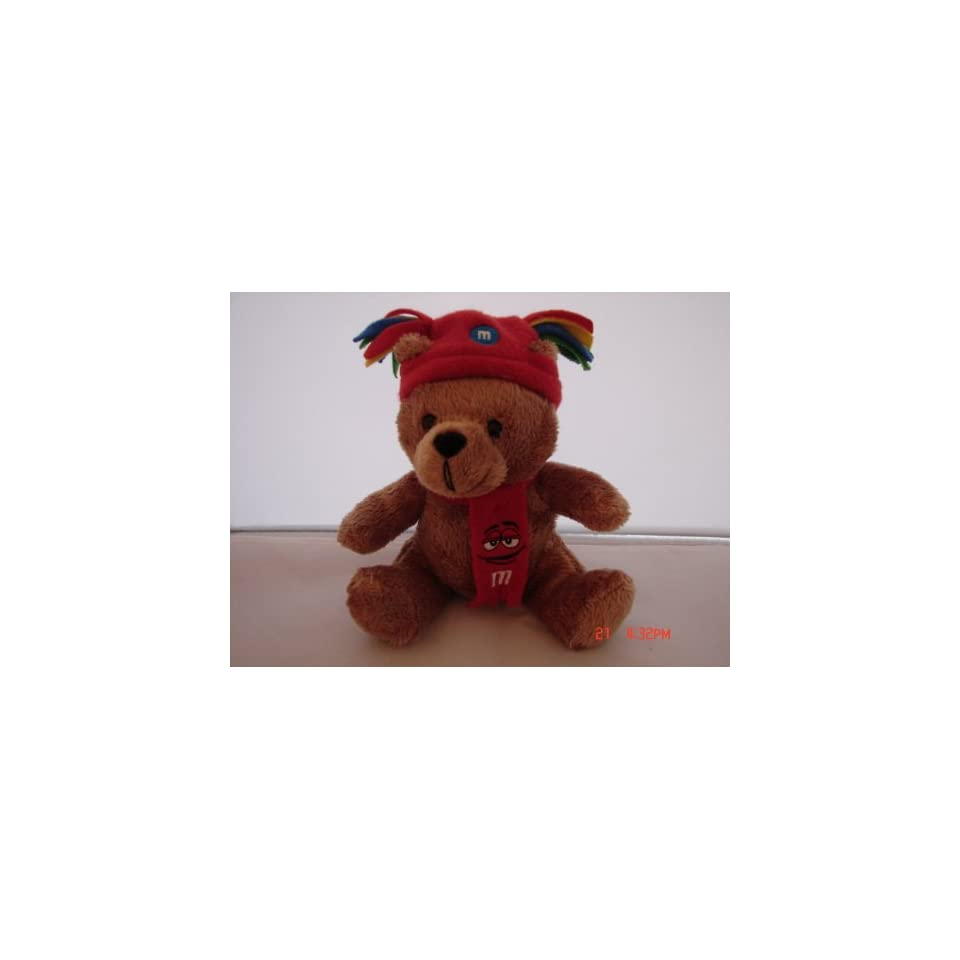 M&Ms Red Brown Teddy Bear Plush Toy New without tag 6