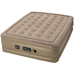 Insta-Bed Queen Air Mattress with Never Flat Pump - Beige