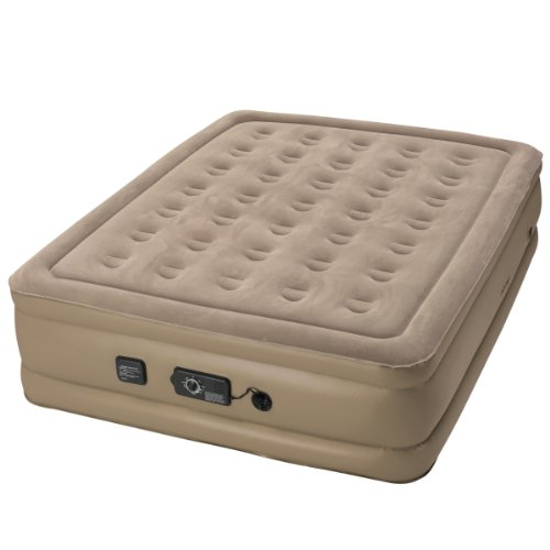 Insta-Bed Queen Air Mattress with Never Flat Pump - Beige by Insta-Bed