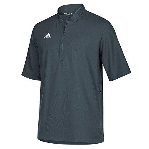 adidas Team Iconic Short Sleeve Quarter-Zip Polo - Men's Multi-Sport XL Onix/White