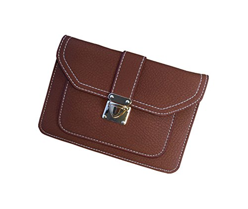 Cell Crossbody Style Purse For ModaKeusu Phone Wallet Bag Synthetic Women Envelope Coffee Classic Leather Small xAYAn04fqw