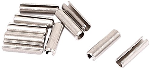 Sourcingmap a15081000ux0363 M2 x 8 mm 304 Stainless Steel Split Spring Roll Dowel Pins - Silver Tone (10-Piece)
