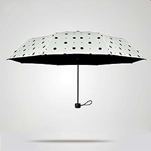SBBCW Verano Sra. Plegable Con Lluvia O Sol De Doble Uso De Peso Ligero Protectores Solares Rayos UV Sombra Sombrillas