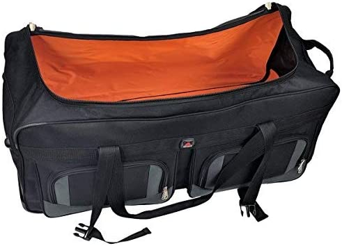 Amaro 33in Rolling Duffel Bag With Wheels Travel Duffle Luggage Bag Lightweight Rolling Bag L Retractable Pull Handle