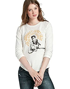Women's - Marshmallow Legendary Johnny Cash Cotton Tee