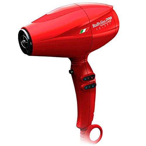Ferrari Powerful Luxury 2000 Watt Engine Ultra Quiet Compact Lightweight Nano Titanium Premium Hair Dryer Red