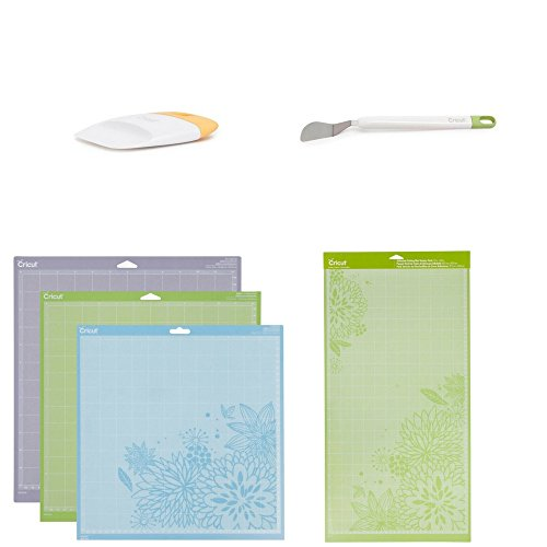Cricut Set of 6 | Cutting Mat Variety 3 Pack, 12x24 Cutting mats 2 pack, Scrapper tool and Spatula by Cricut laboratories