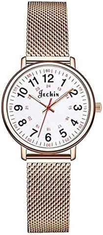 Jechin Simply Women & # 39; s Easy Read Water Resistant Bracelet Watches