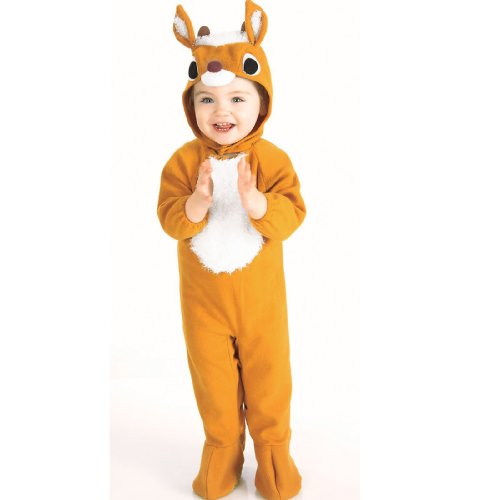 Infant Reindeer Costume (New Plush Reindeer Child Infant Christmas Costume)