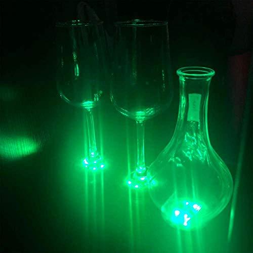 Bottle Light Glorifier,Wine Bottle Led Sticker,Led Bottle lgiht by Kicsto,7 Pack for Bar Bottle Service (Green)
