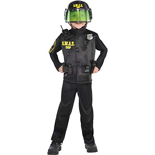 AMSCAN SWAT Cop Halloween Costume for Boys, Large, with Included -