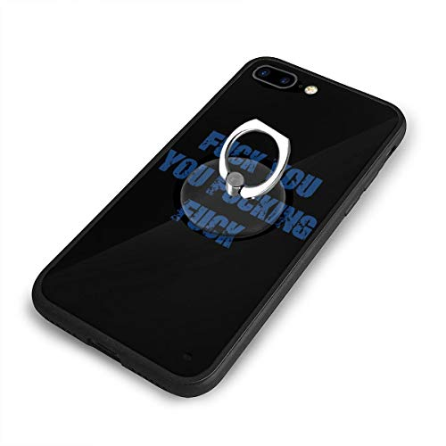Fuck You You Fucking Fuck iPhone 7/8 Plus Case Anti Scratch Shock-Proof Phone Case with Circular/Ring Bracket