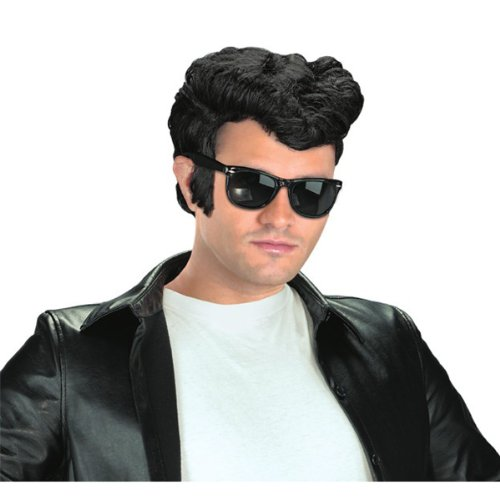 Mens 50s Costumes (Adult 1950s Greaser Wig)