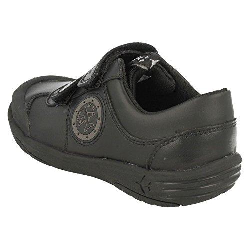 Clarks Bronto paso bebés negro cuero escuela zapato Black Leather 9½ H lYaL6Rih