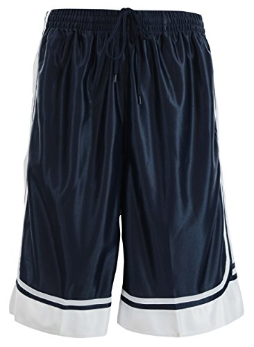 ChoiceApparel® Mens Two Tone Training/Basketball Shorts with Pockets (S up to 4XL) (XL, Navy)