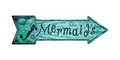 Smart Blonde Mermaids Novelty Metal Arrow Sign A-315