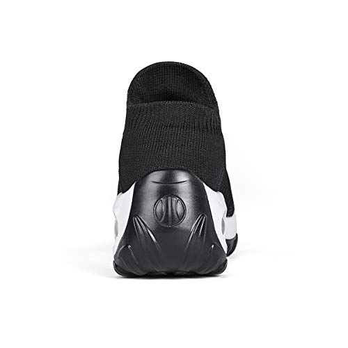 Women's Walking Shoes Sock Sneakers - Mesh Slip On Air Cushion Lady Girls Modern Jazz Dance Easy Shoes Platform Loafers Black&White,8.5