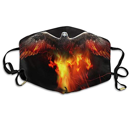 JGYNVER Pollution Respirator Dust Beautiful Fire Eagle Mask-Cool Unisex Washable Environmentally Friendly Mouth Mask For Man Woman by JGYNVER