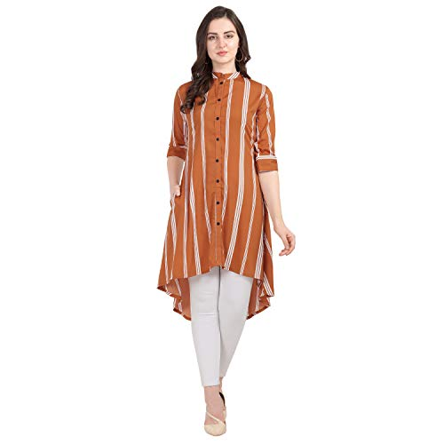 Serein Women's Crepe wrap Kurtas (SER-KURTI-A-100-S_Orange)