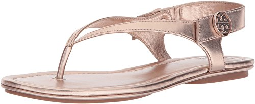 Tory Burch Minnie Leather Travel Sandal (6, Rose ()