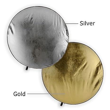 Fotodiox 10RFTR-21-44SW 42-Inch Silver//White Reflector Pro Premium Grade Collapsible Disc