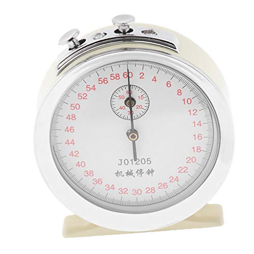Flameer 60s Mechanical Clock Stopwatch Physics Experiment Timer Sports ()