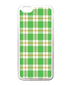 Generic Green Plaid Case Back Cover for Apple Iphone 6 4.7 Inch TPU Transparent
