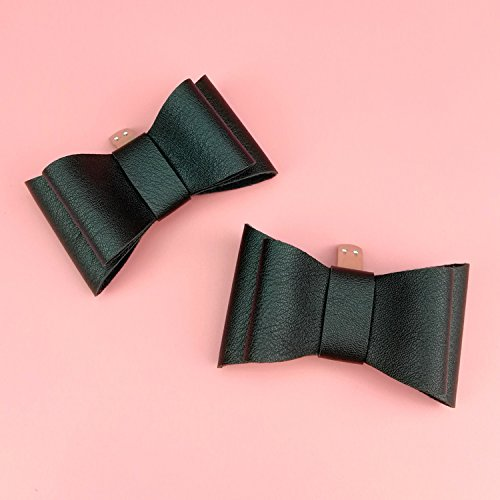 TOOKY Women' PU Bow Butterfly Removable Shoe Clips Clutch Wedding Decoration Pack of 2 RygOvZGdZF