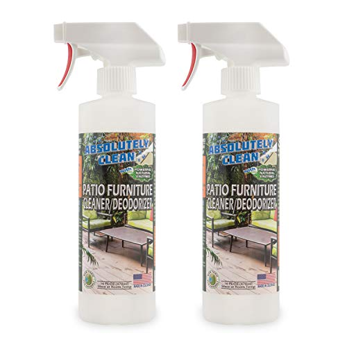 Amazing Patio Furniture Cleaner - Natural Enzymes Easily Remove Dirt, Bird Droppings, Food and Mildew Stains and More from Your Outdoor and Patio Furniture - USA Made (Patio Resin Cleaner Furniture)